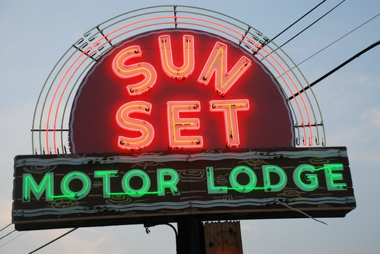 Sunset Motor Lodge:                   You can't miss it!
