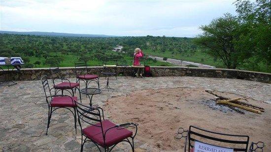 Tarangire Safari Lodge:                   terrace