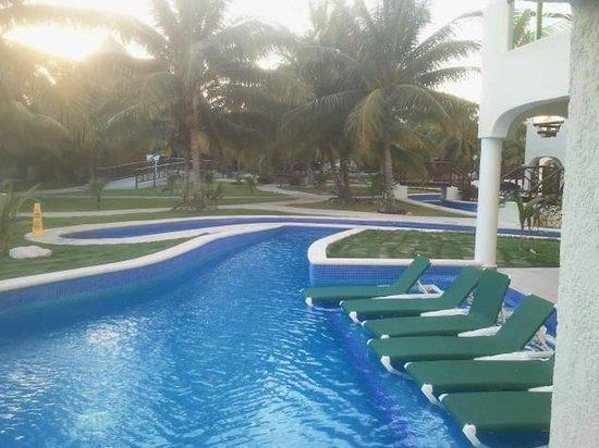 El Dorado Royale, by Karisma:                   To the right of swim up suite 4106