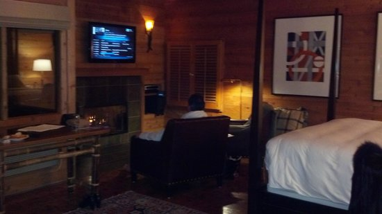 Ventana Big Sur, an Alila Resort:                   Fireplace & sitting area Big Sur Spa Suite Rm 54