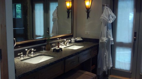Ventana Inn & Spa:                   Nice double vanity Big Sur Spa Suite Rm 54