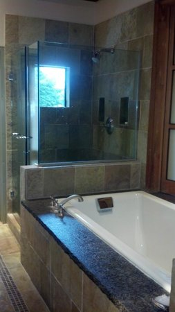 Ventana Big Sur:                   Soaking tub for two & Shower Big Sur Spa Suite Rm 54