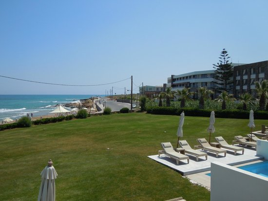 The Island Hotel:                   view to sea