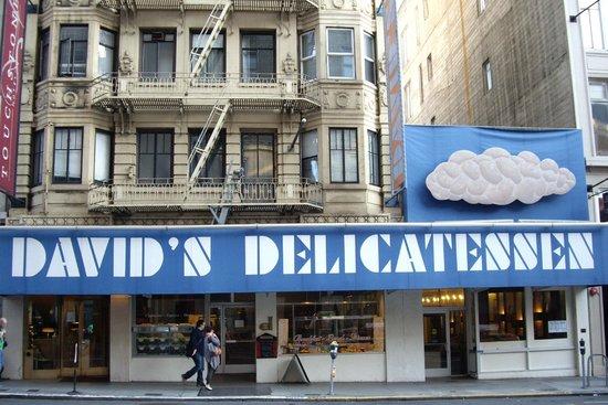David's Delicatessen & Restaurant : Can't miss it on bustling Geary Street between Taylor & Mason