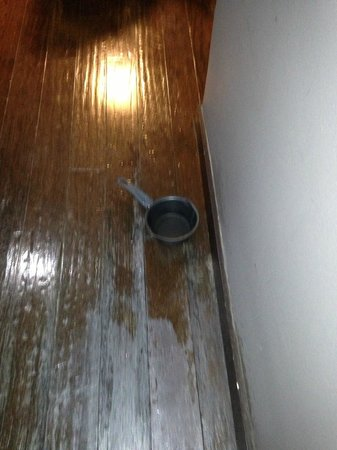 Metropole Apartments:                                     The ceiling leaking flooding our room and nothing was done a