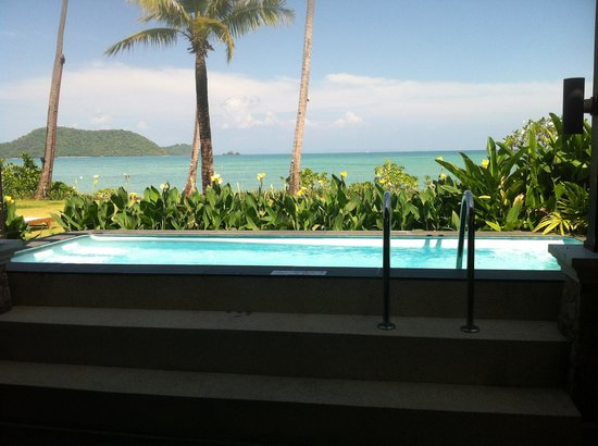 Pullman Phuket Panwa Beach Resort:                   View from our bed over the pool and the beach