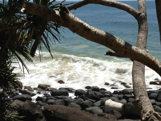 Burleigh Heads Beach: by the beach