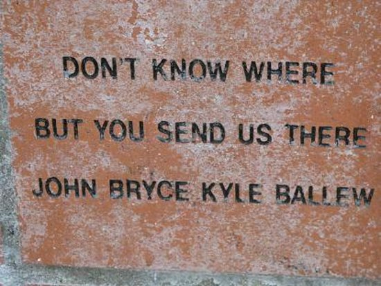 Beach Boys Monument:                   You send us there brick.