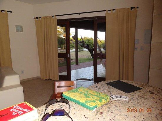 Morada dos Ventos:                   Vista desde la sala.
