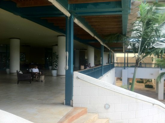 View of Lobby from Stairs from Pool