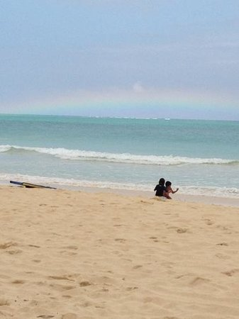 Bellows Field Beach Park:                   rainbow