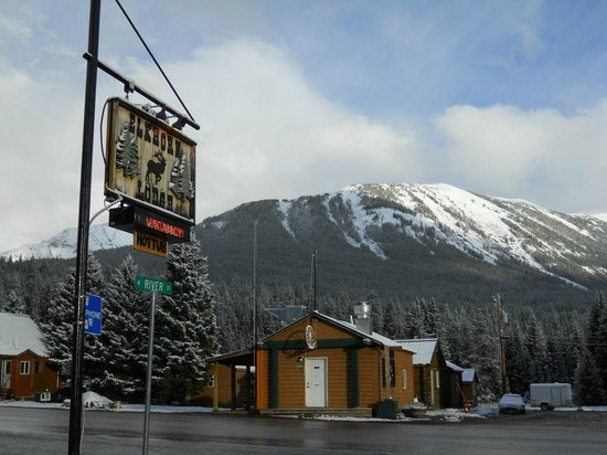 Cooke City's Elk Horn Lodge :                   A view from the Elk Horn Lodge