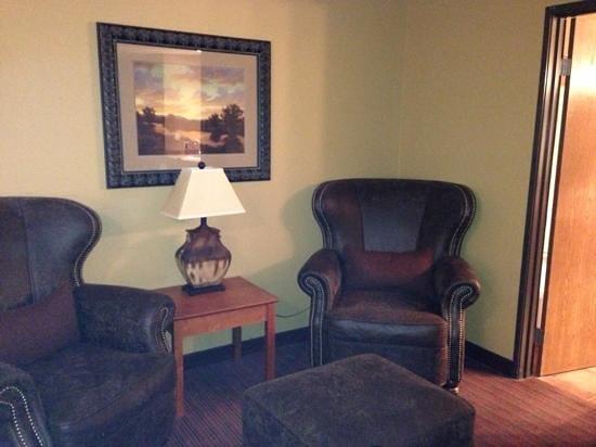 Best Western Plus Inn of Santa Fe:                   king room-sitting area, amazing chairs