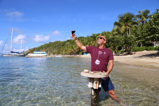 Cooper Island Beach Club:                   Toasting the beauty