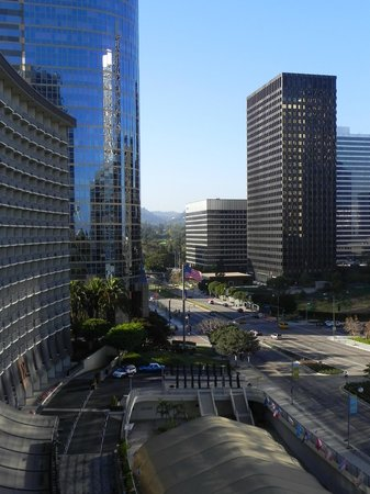 Hyatt Regency Century Plaza:                   View from our balcony