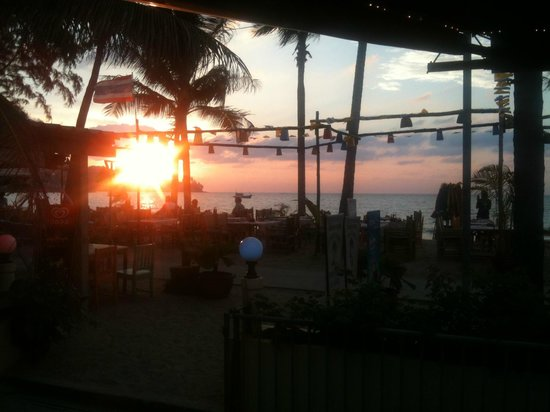 Coconut Garden:                   Sunset from the bar