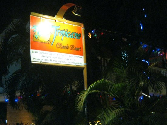 Tropicano Beach Resort:                   hotel name