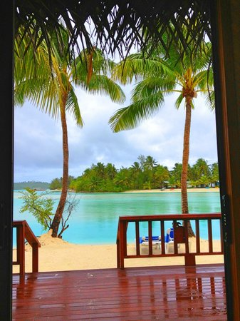 Aitutaki Lagoon Resort & Spa:                   View from our Beachfront Bungalow