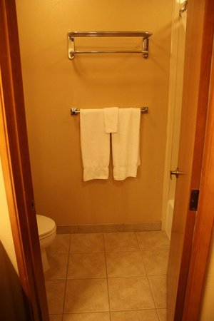 BEST WESTERN PLUS Beachfront Inn: Door to bathroom