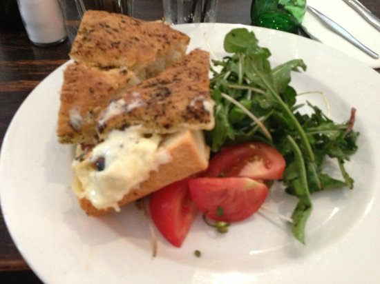 Rain Check Lounge : Chicken & Guacamole Foccacia