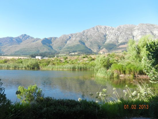 L'Ermitage Franschhoek Chateau & Villas:                   View from our room.