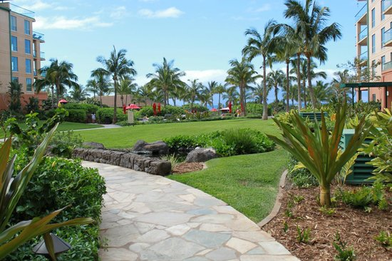 Honua Kai Resort & Spa:                                     Path to pools, beach and Duke's