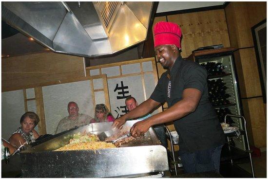 Dreams Punta Cana Resort & Spa:                   Great food and entertainment at the Hibachi