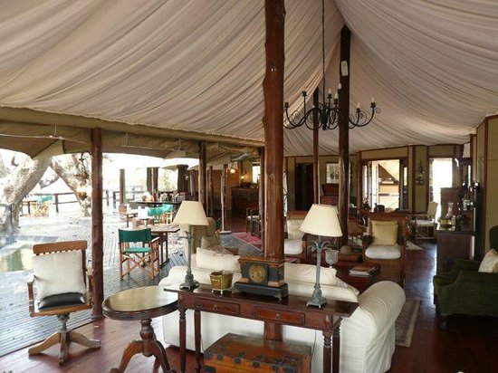 Hamiltons Tented Safari Camp: main lounge area