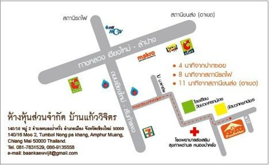 Map of K House Apartment Chiang mai, Thailand