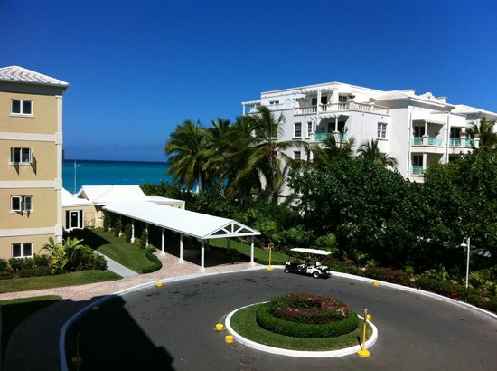 Alexandra Resort: view from our front door overlooking main entrance, office