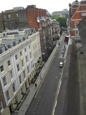 The Bloomsbury: street view from our  room