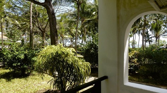 Diani Sea Resort: View from room - just see the sea