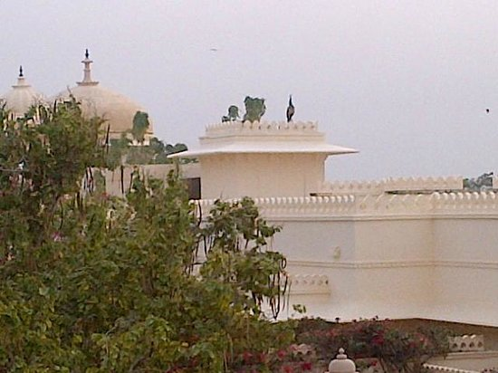 Trident Udaipur: From the Bara Mahal,view of Udayvilas...