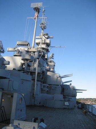 Battleship Cove:                   View of USS MASSACHUSETTS superstructure