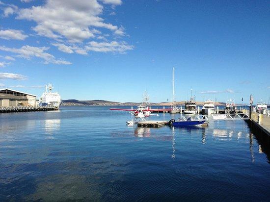 Sullivans Cove : Sea Plane & Cruise Ship