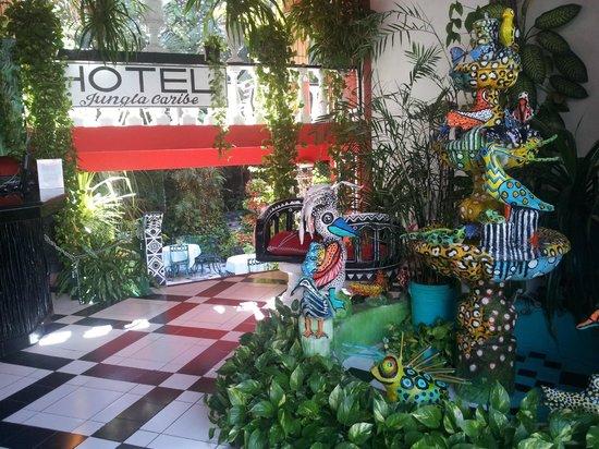 Hotel Jungla Caribe:                   Eingangsbereich