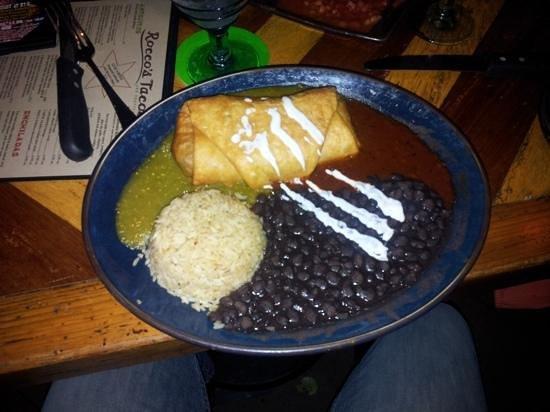 Rocco's Tacos and Tequila Bar: Chimichanga (?)