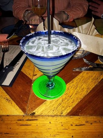 Rocco's Tacos and Tequila Bar: a Mexican sherbet dip.... with salt