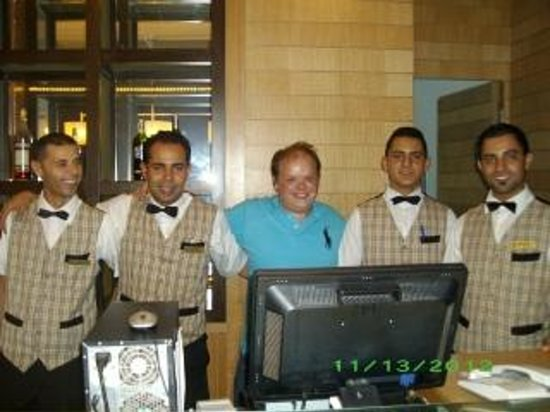 Marhaba Royal Salem:                   me with some bar staff in at the bar