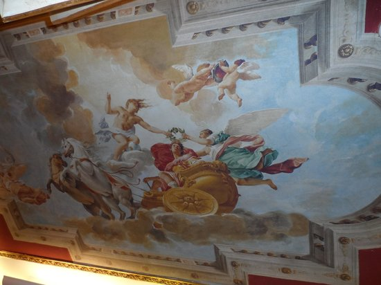 Hotel Romanico Palace:                   mural in our room