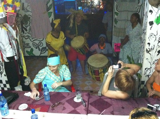 Black & White Cultural Entertainment Center:                   Dancing and drumming
