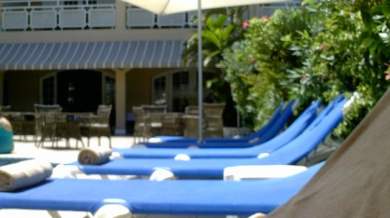 Sandals Inn:                                     Pool chairs and floaties for everyone