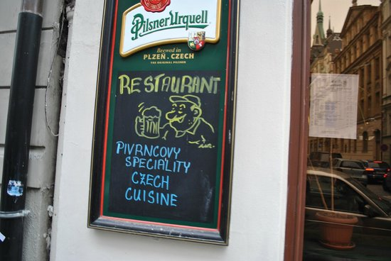 Hospoda U Pivrnce :                   Restaurant entrance