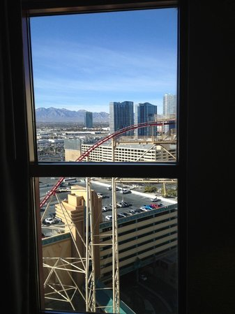 New York - New York Hotel and Casino: Window view from Spa Suite 2115
