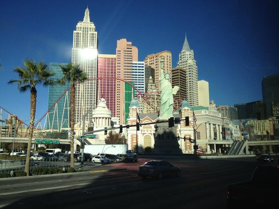 New York - New York Hotel and Casino: Street View of NYNY from Las Vegas Blvd