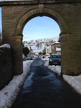 Teesdale Hotel :                   teesdale village in the snow