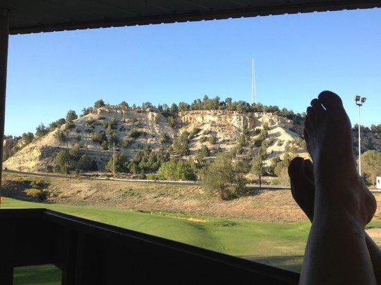 Best Western East Zion Thunderbird Lodge:                                                       Uitzicht vanaf het balkon