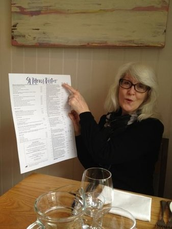 St Petroc's Bistro:                                     Maggie choosing lunch at St Petroc's..
