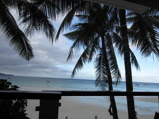 Jony's Beach Resort :                                                       View from restaurant/bar, early morning br