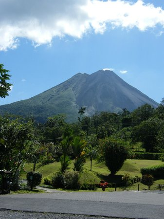 Arenal Volcano Inn:                                     We got really lucky - a clear view!!
